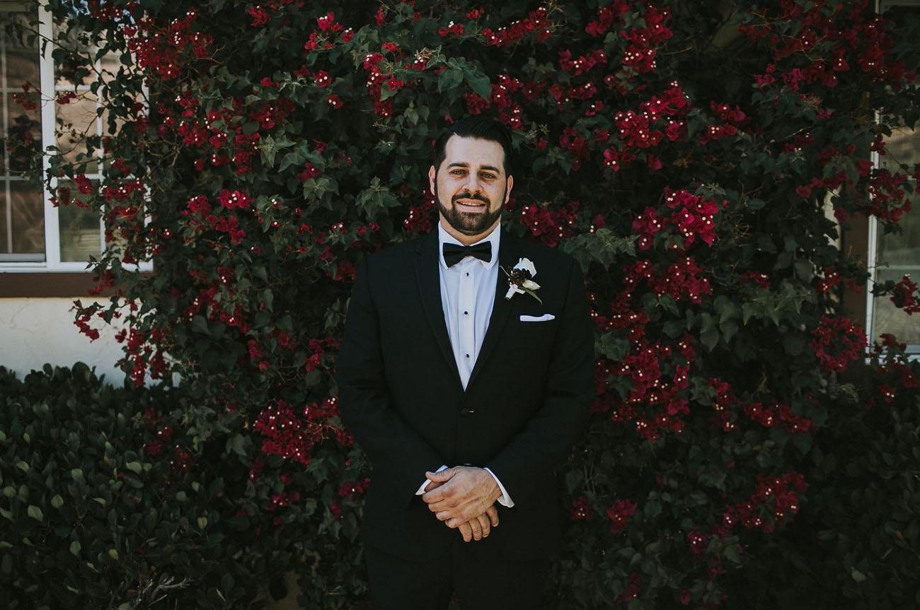 black bow tie groom