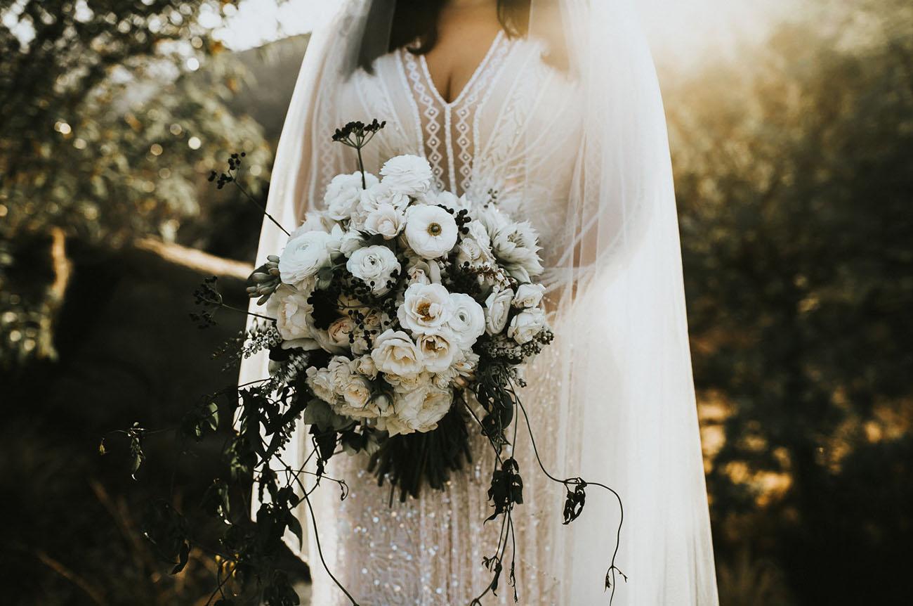 white ranunculus bouquet