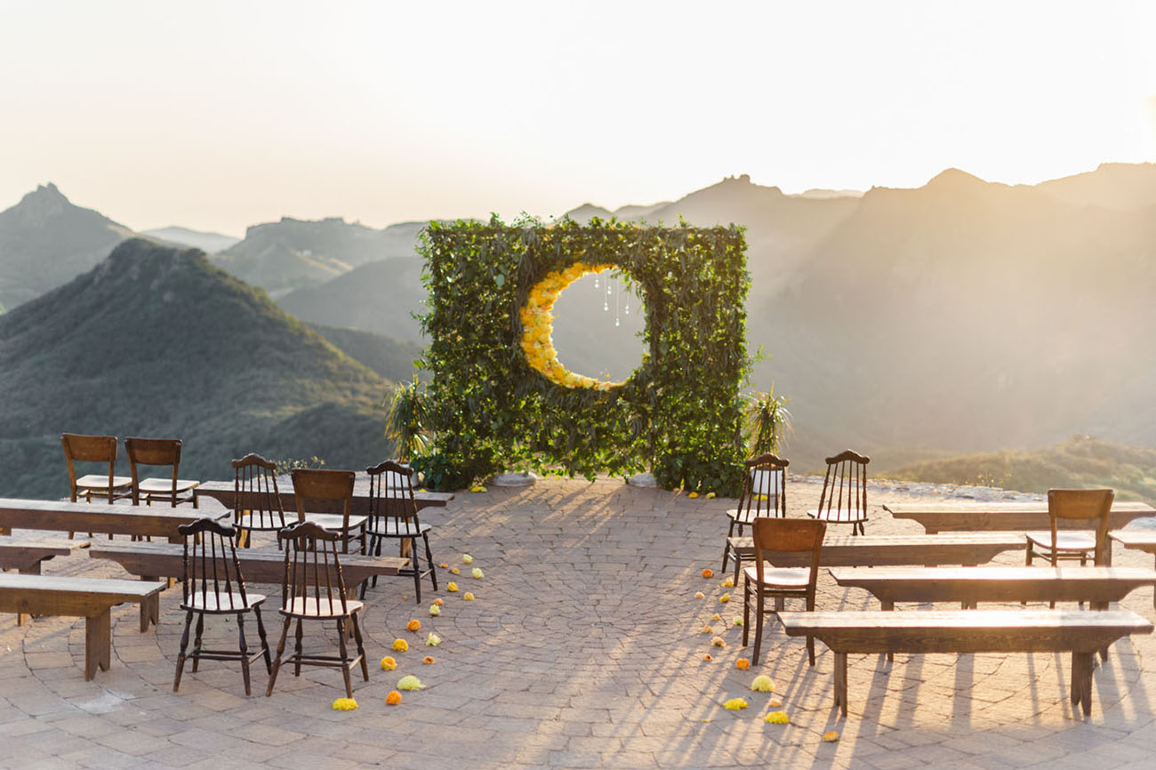 moon floral arch