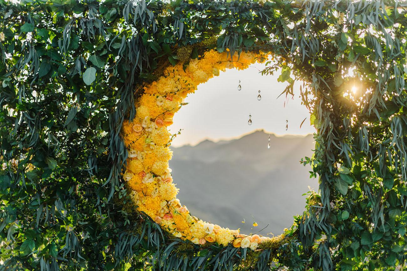 moon floral backdrop