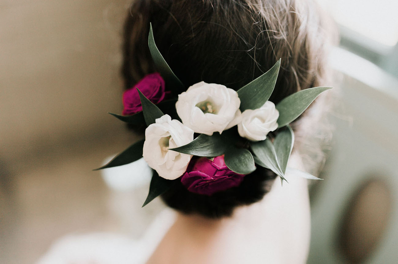 flower hair piece