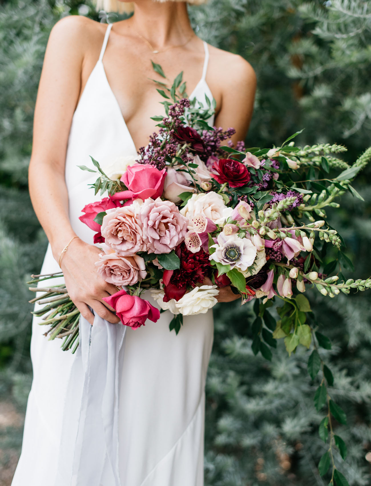 blush and pink bouquet