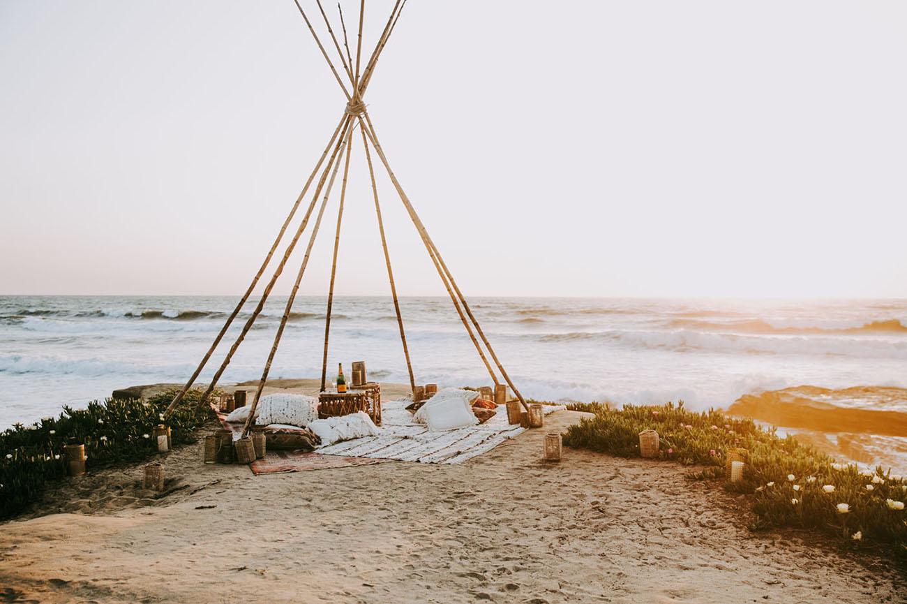 beach teepee