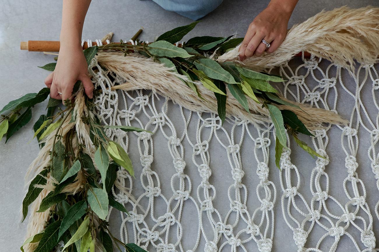 Diy Silk Floral Macram 233 Backdrop Green Wedding Shoes