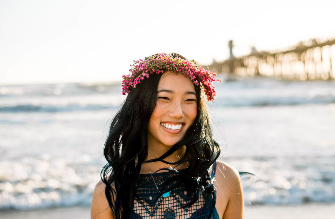 beach flower crown