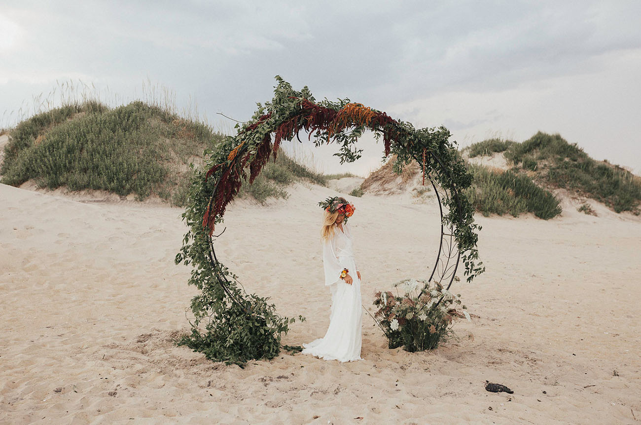 giant floral hoop