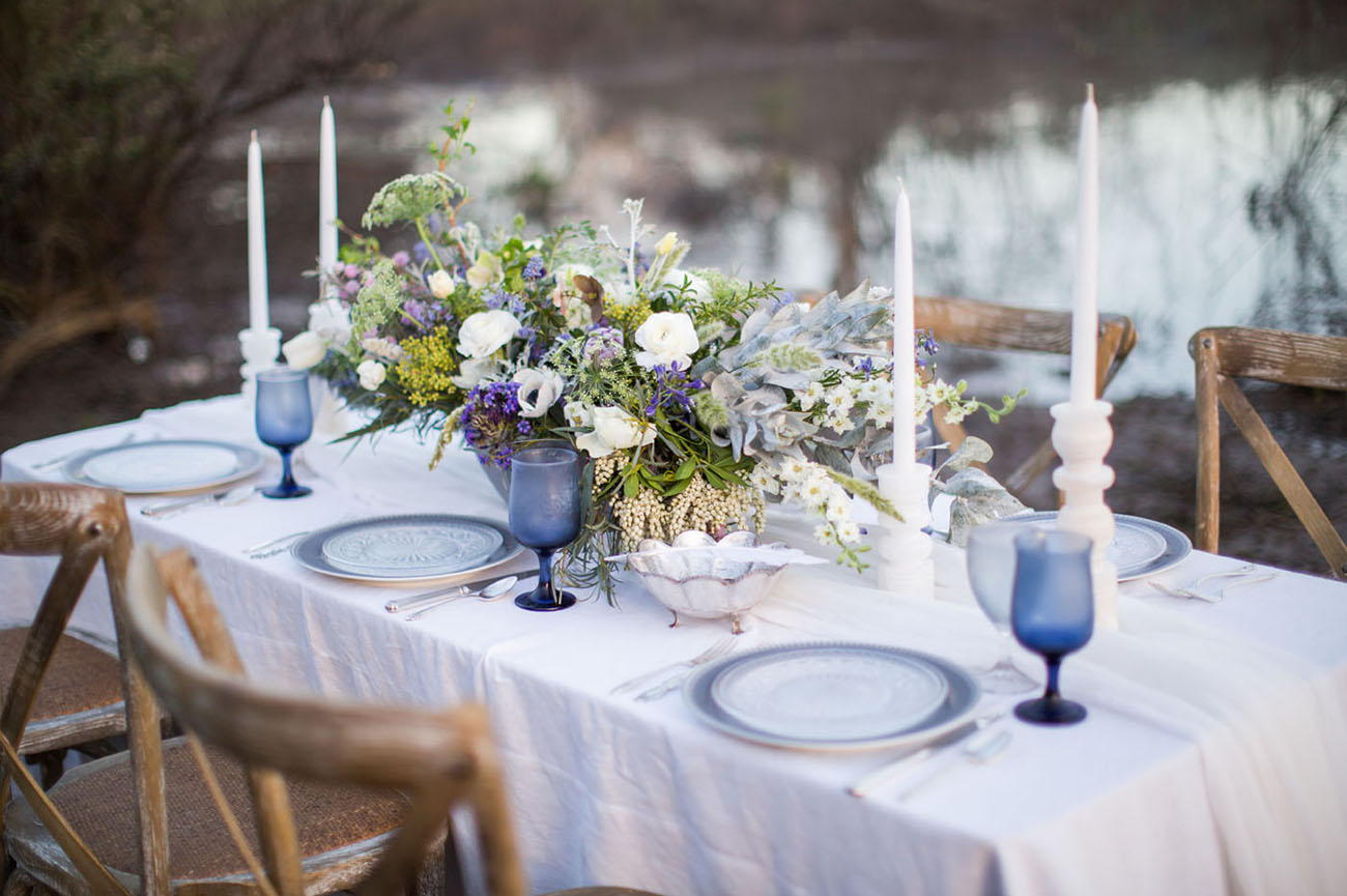 Blue Heron Wedding Inspiration