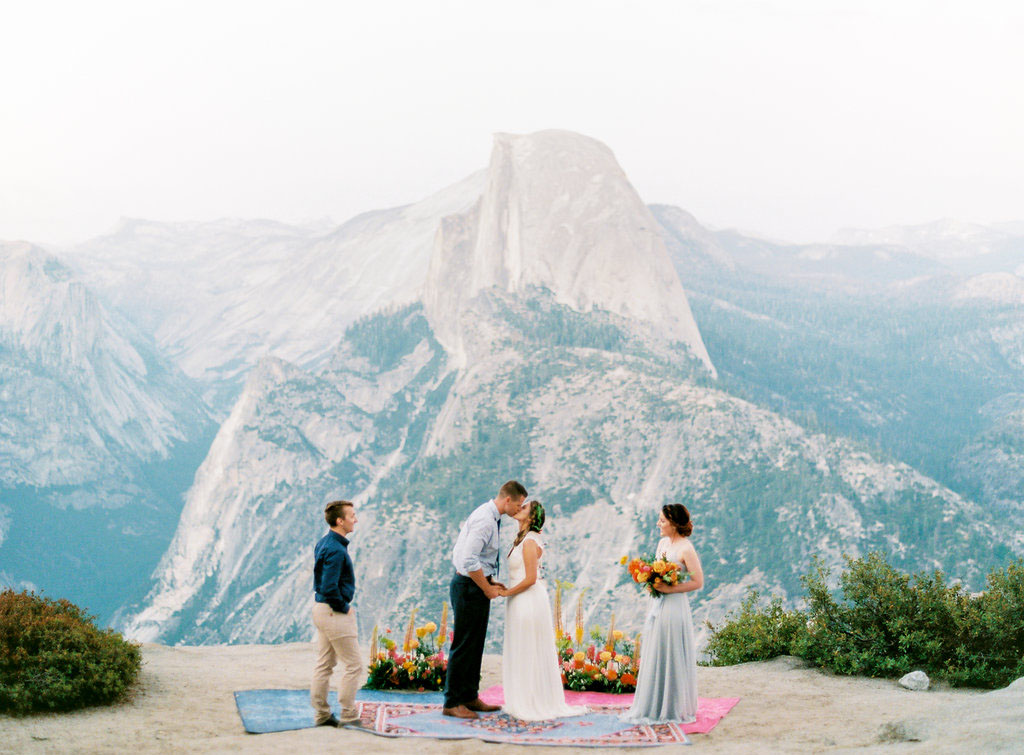 Bright and Boho Yosemite Elopement