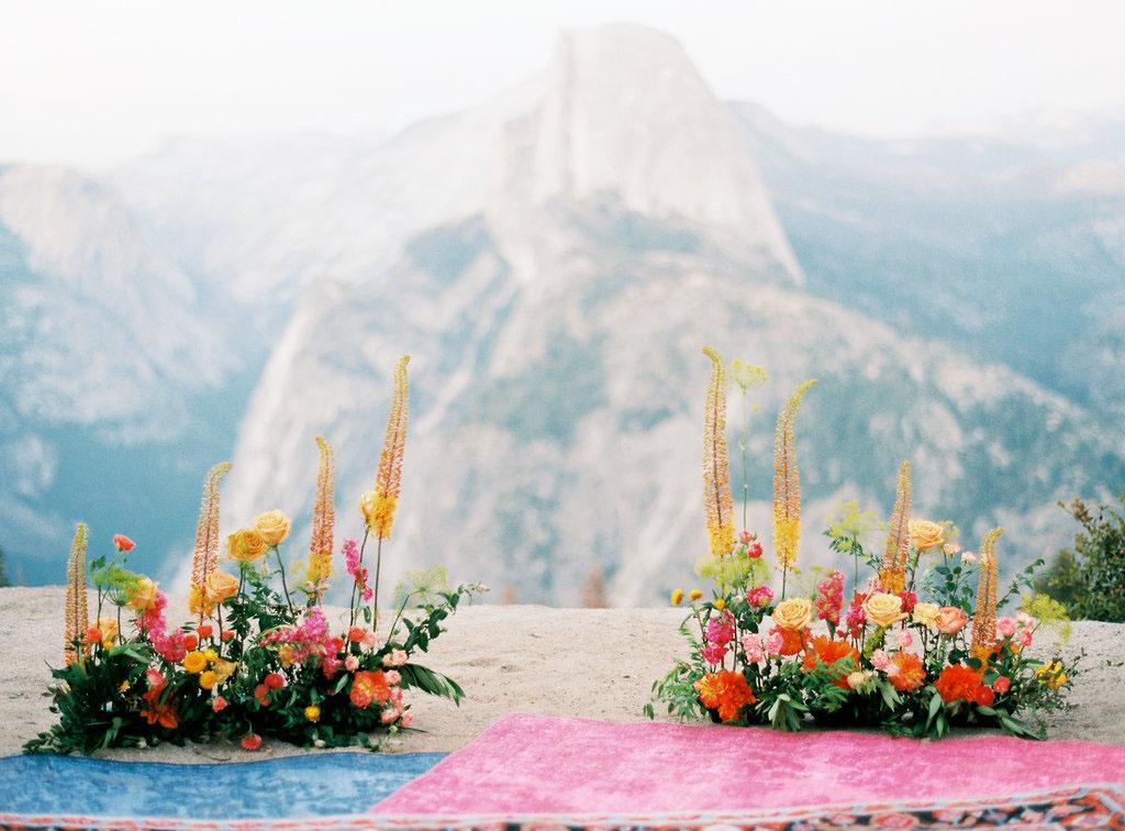 bright floral backdrop