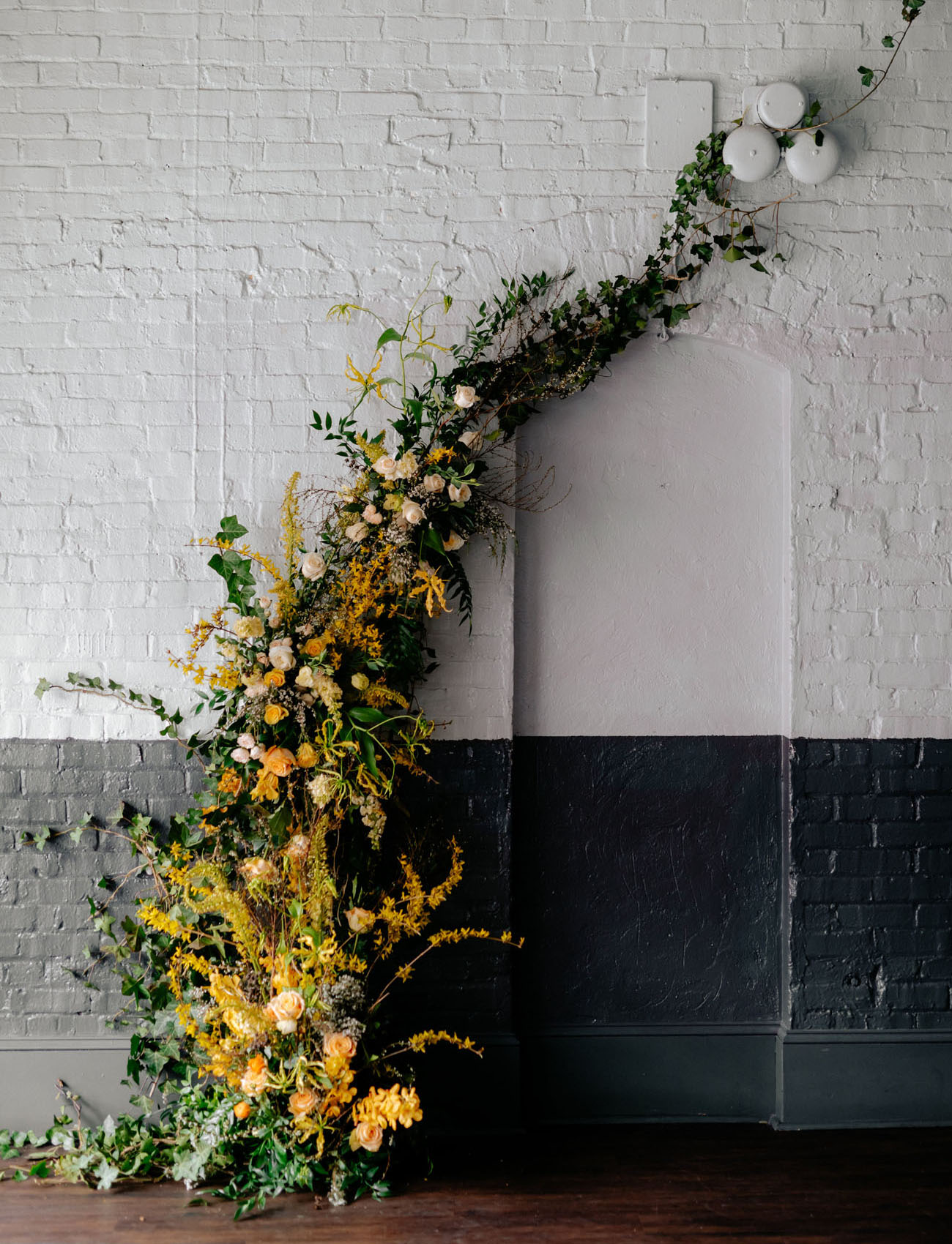 floral wall installation