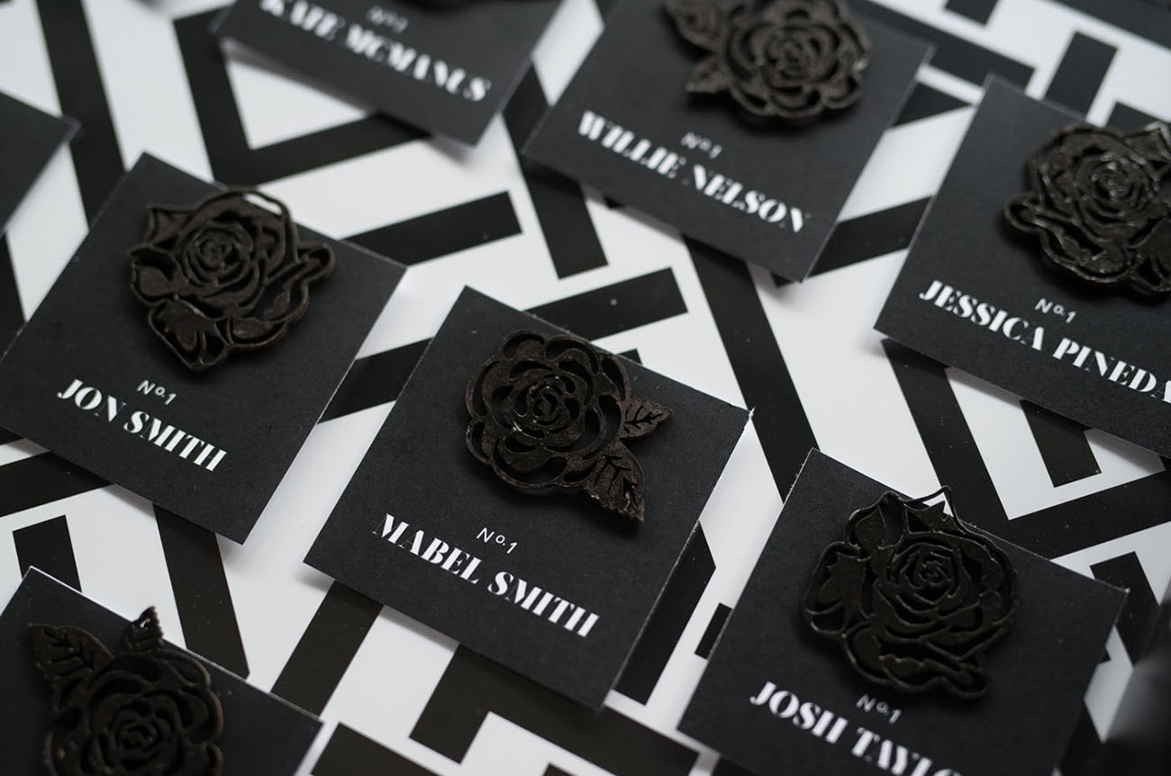 rose escort cards