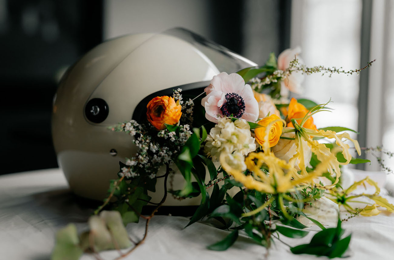 Chill Citrus Hued Industrial Wedding