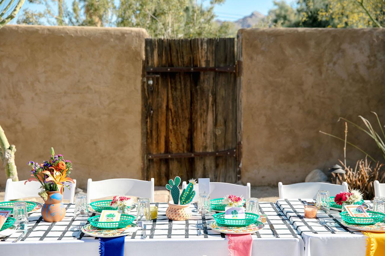 Colorful DIY Fiesta Desert Wedding
