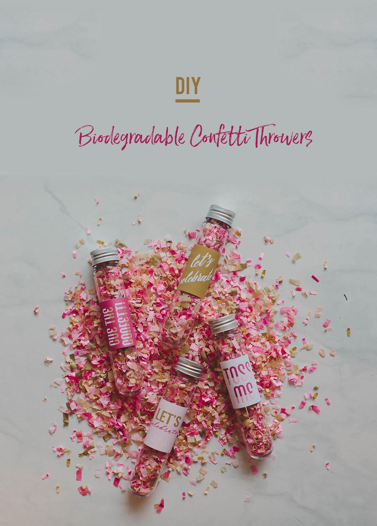 DIY Biodegradable Confetti Thrower