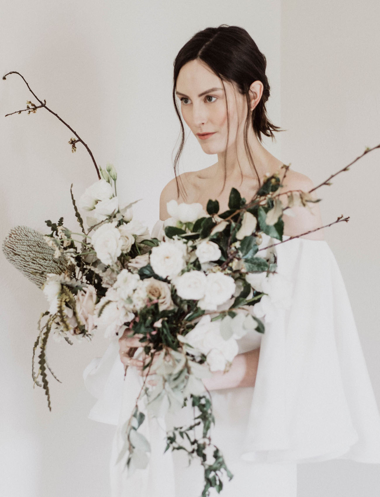 whimsical branch bouquet