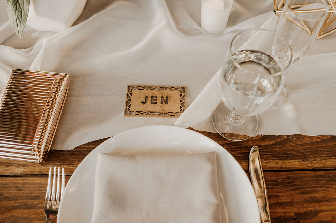 laser cut name cards