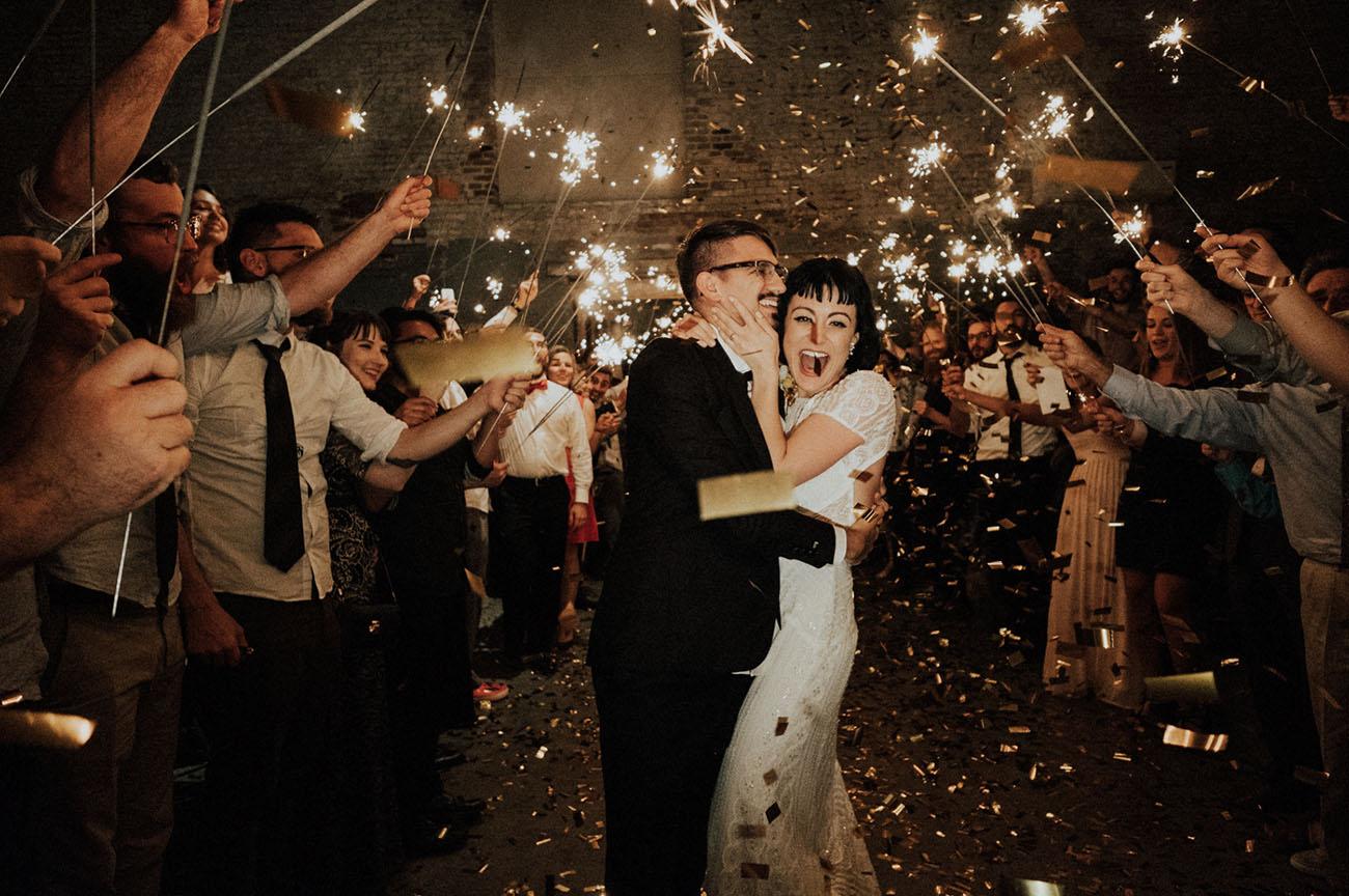 sparkler confetti exit