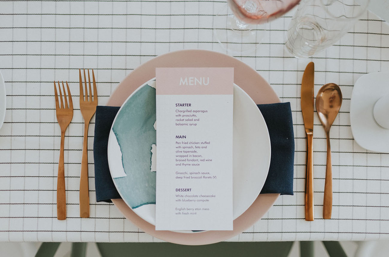 pink dinner plate