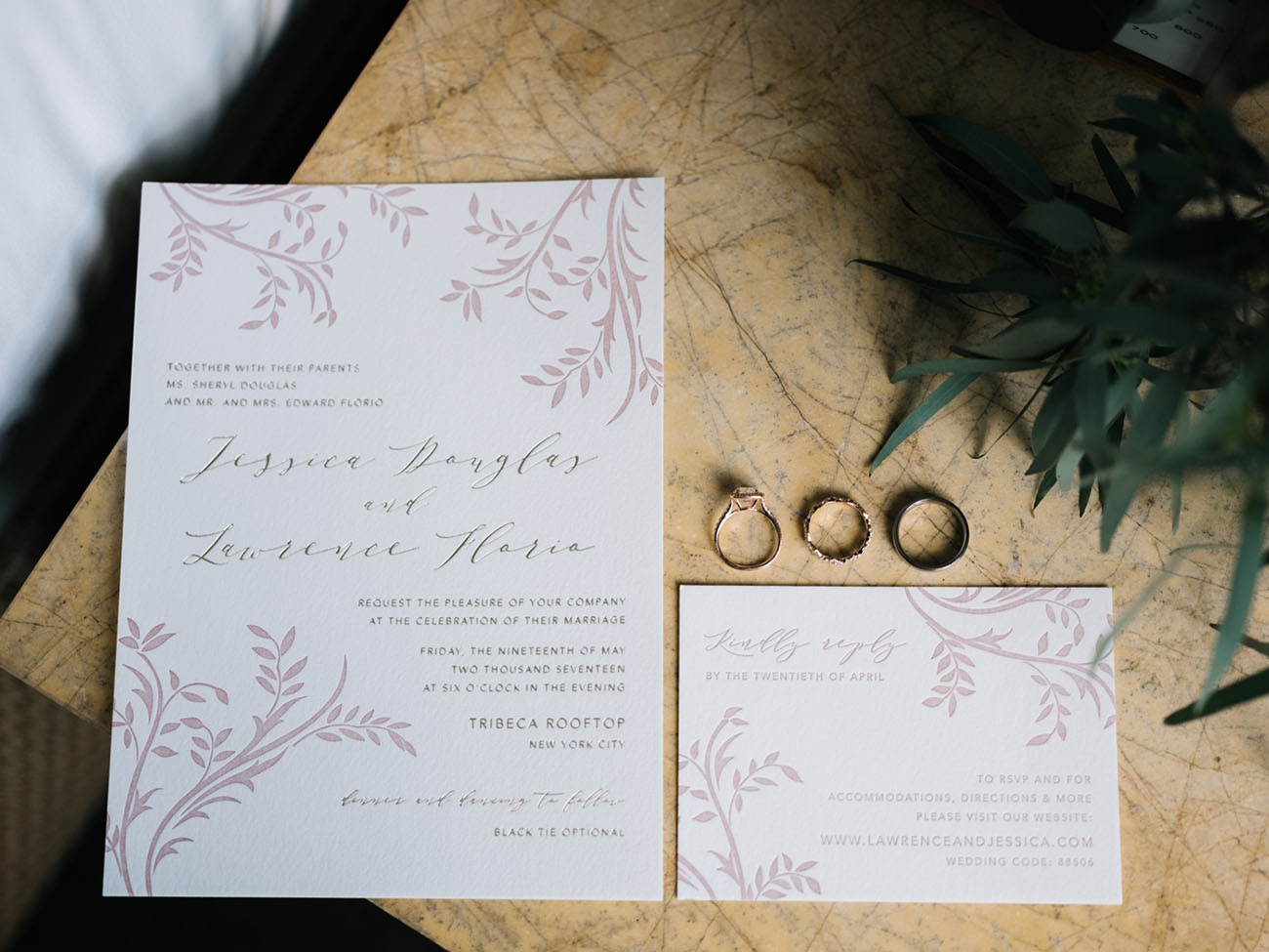 foliage invitation