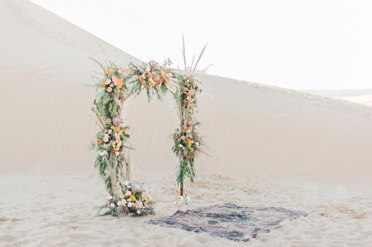 desert floral arch