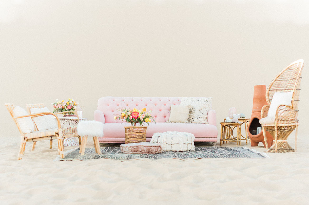 pink desert lounge
