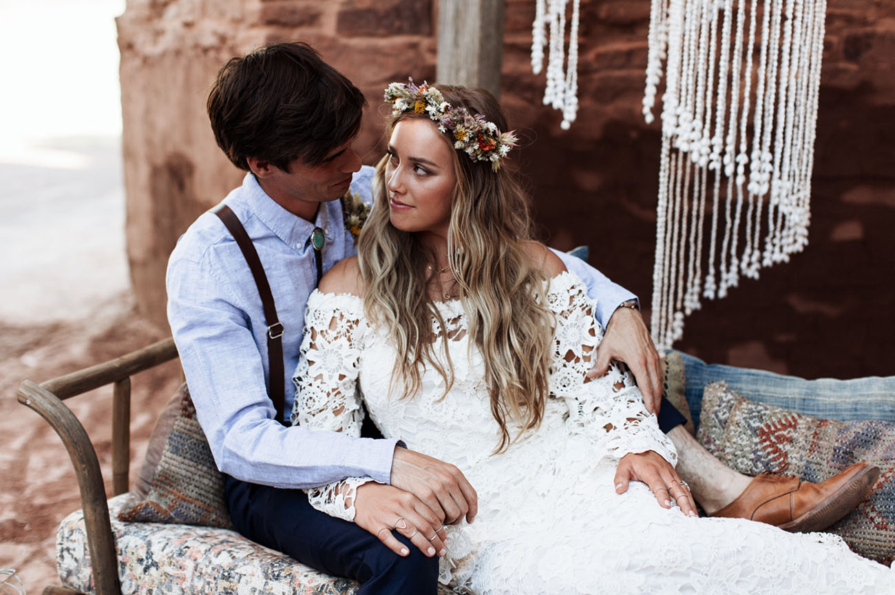 1970's Bohemian Wedding Inspiration