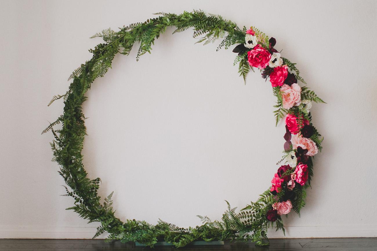 DIY Giant Silk Flower Wreath
