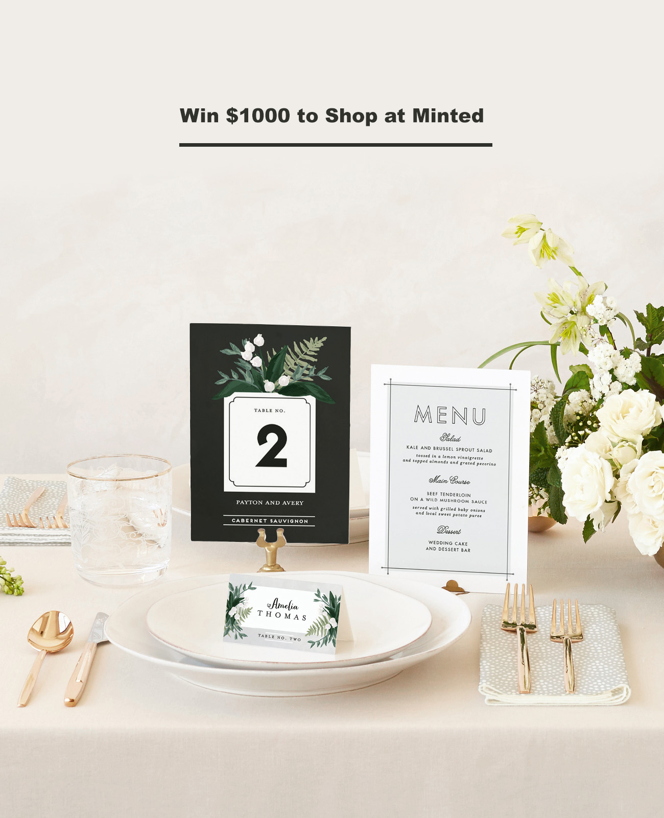 Win $1000 to shop at Minted