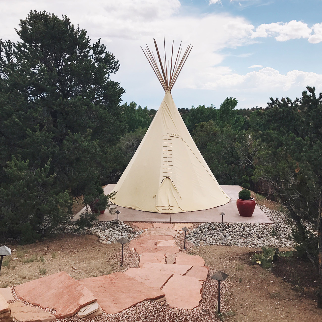 Santa Fe travel guide teepee