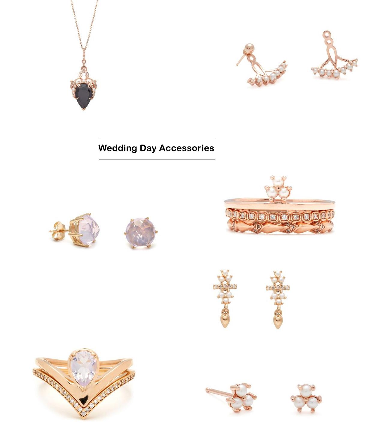 Anna Sheffield wedding day accessories