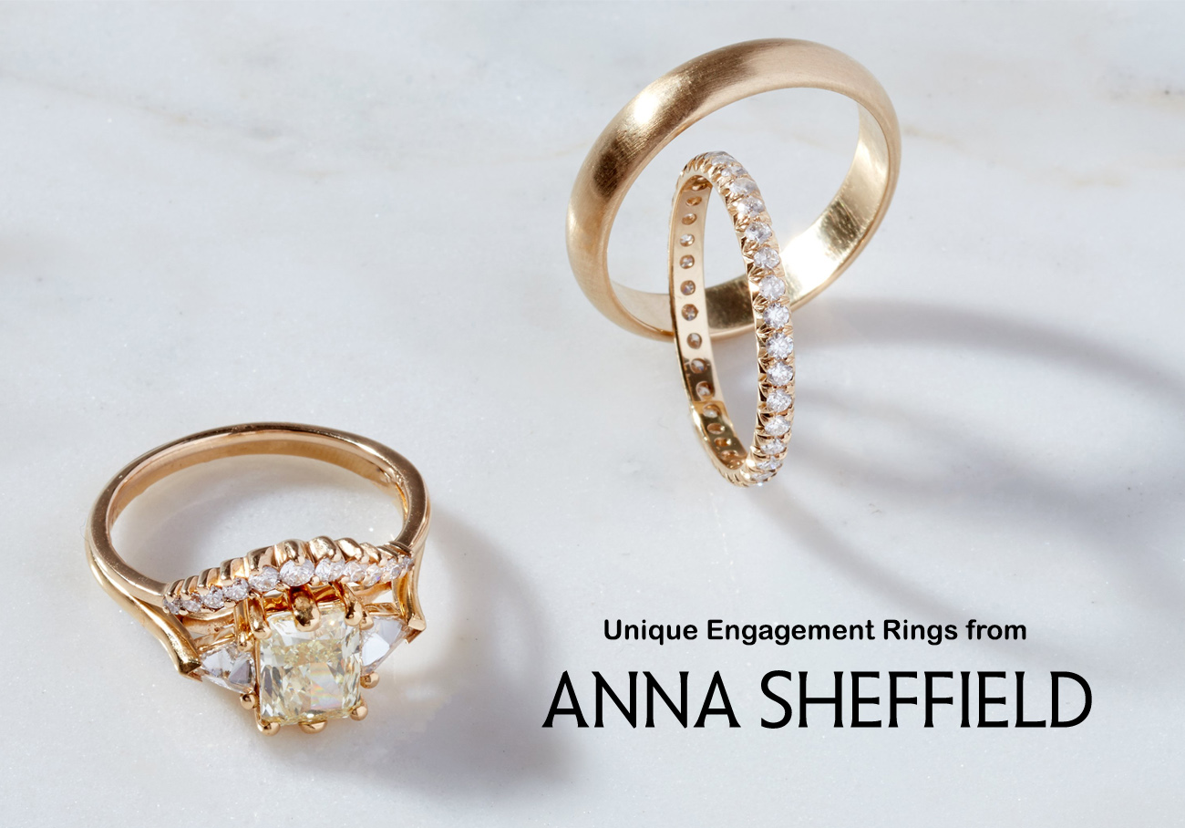 Anna Sheffield engagement rings