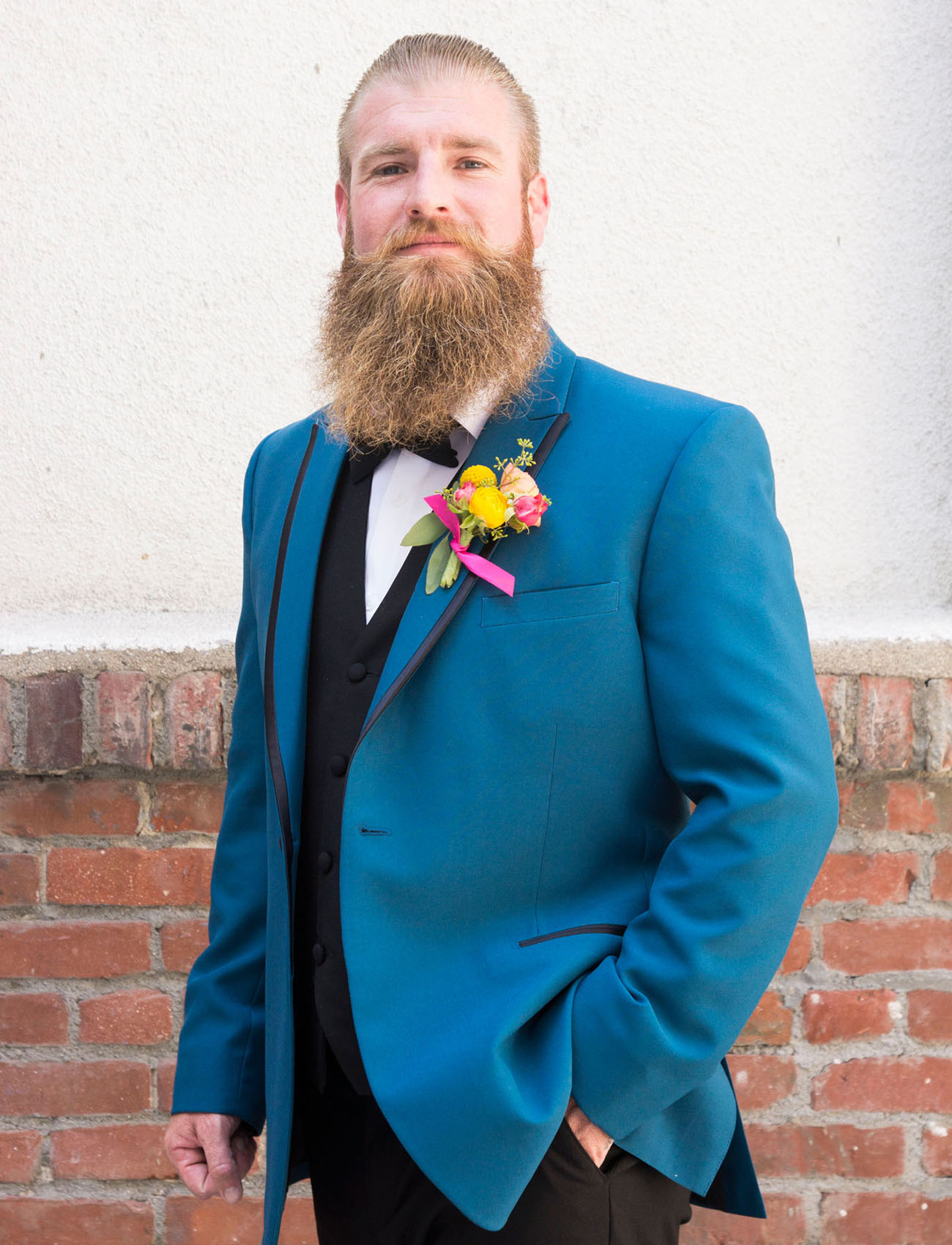 blue suit groom