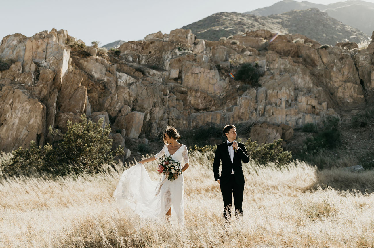 Boho Chic Palm Springs Wedding