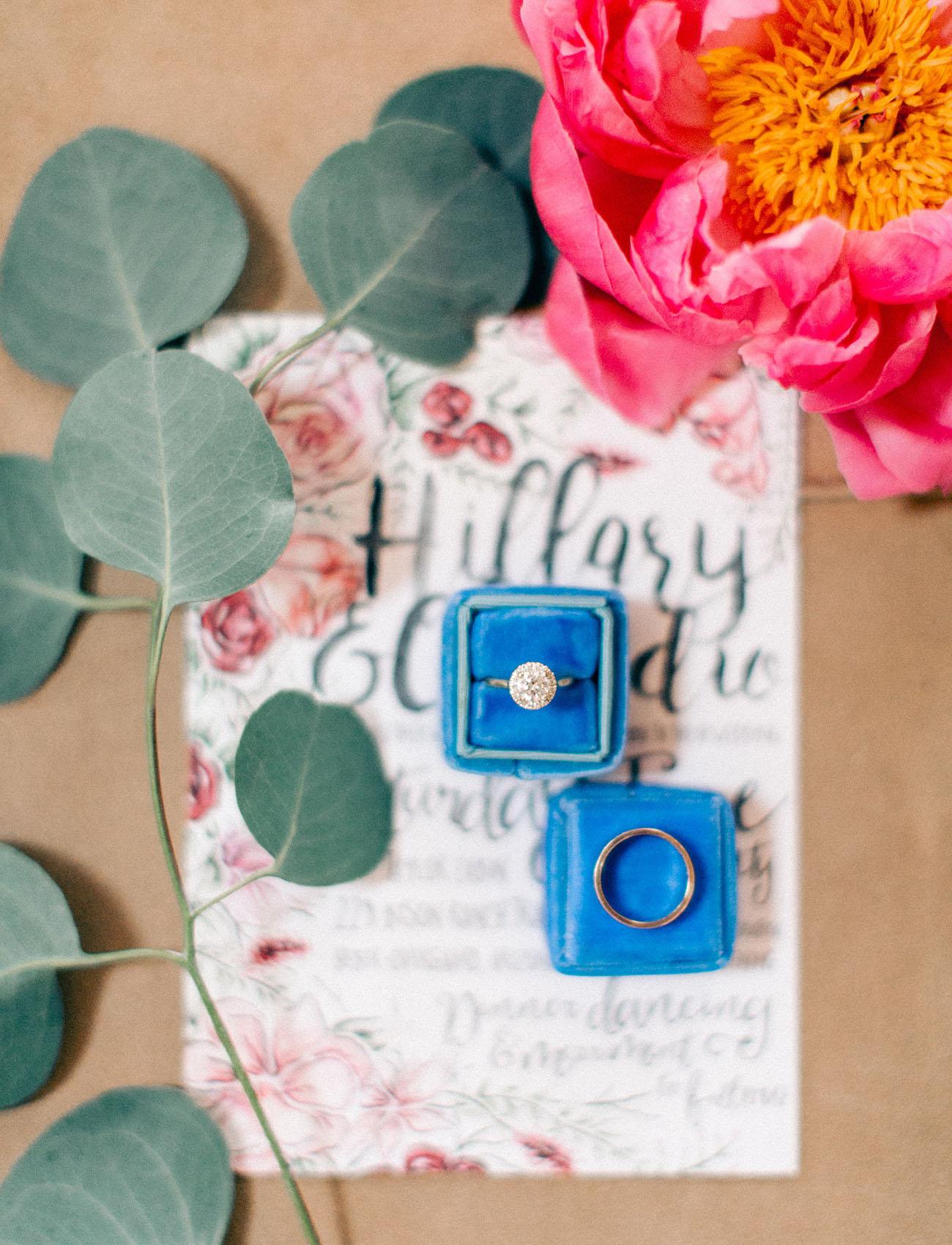 blue velvet ring box