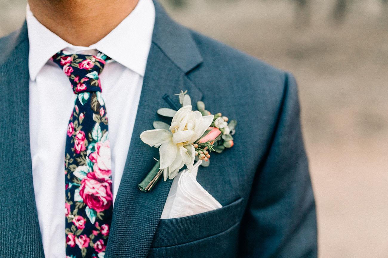 floral groom's tie
