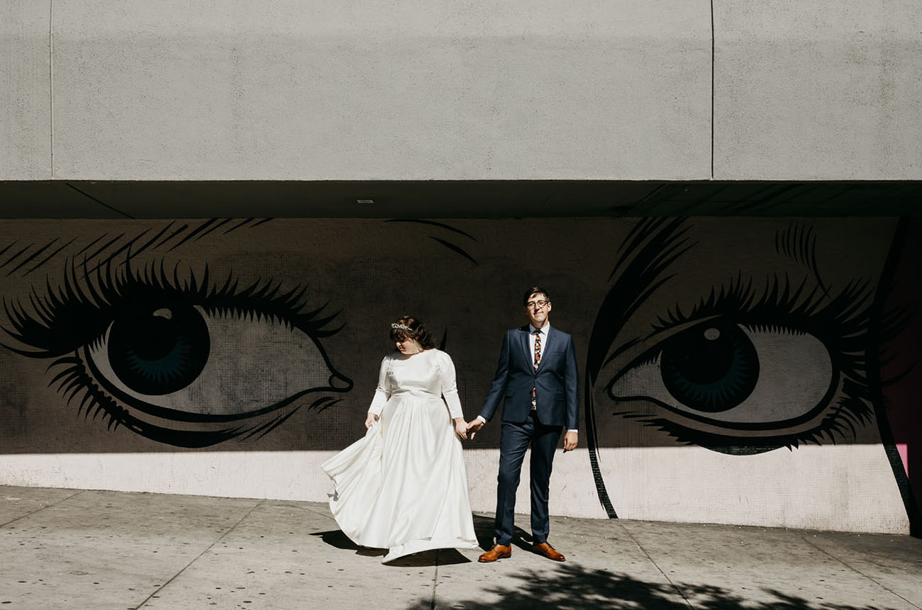 Hollywood Loft Rooftop Wedding