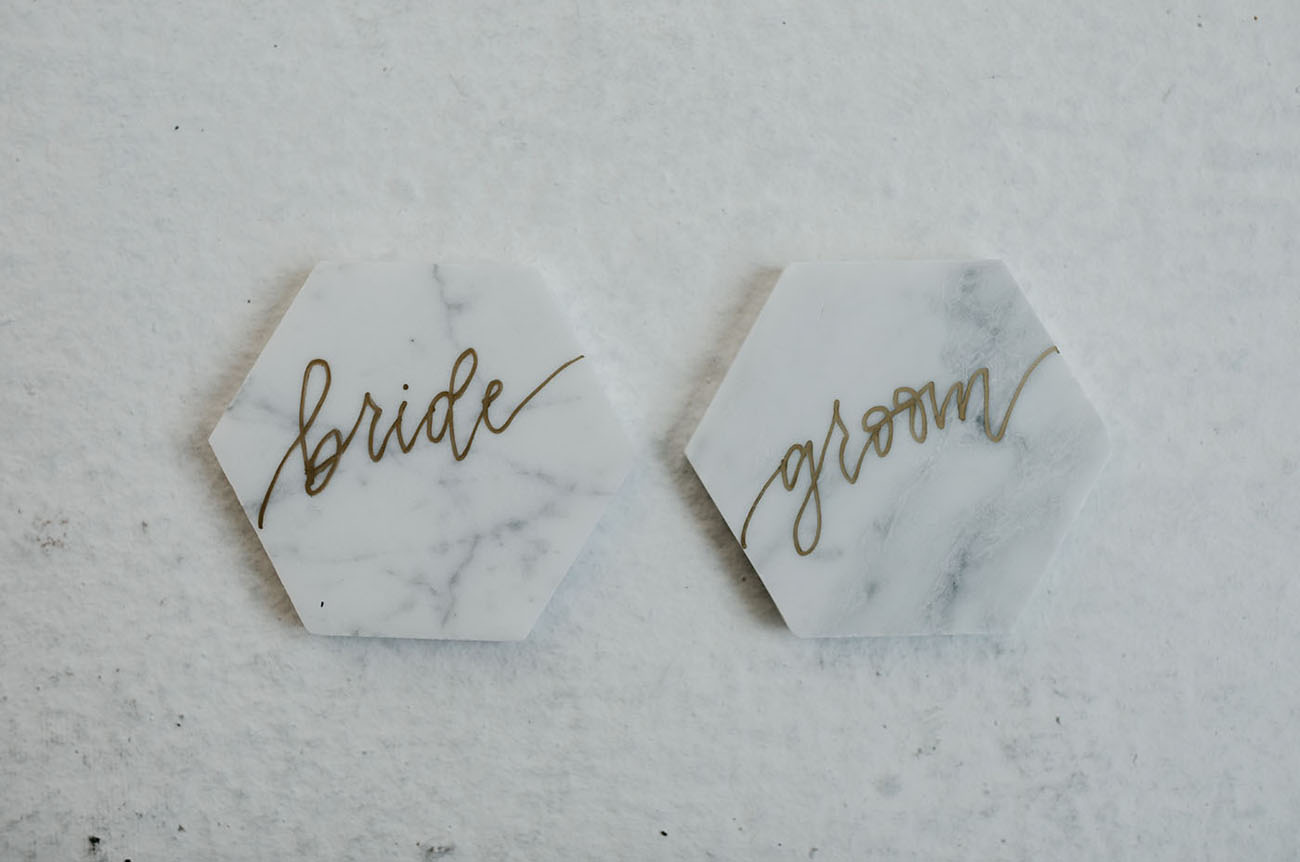 marble name cards