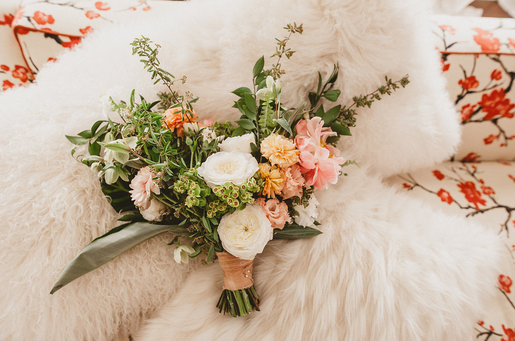 spring colored bouquet