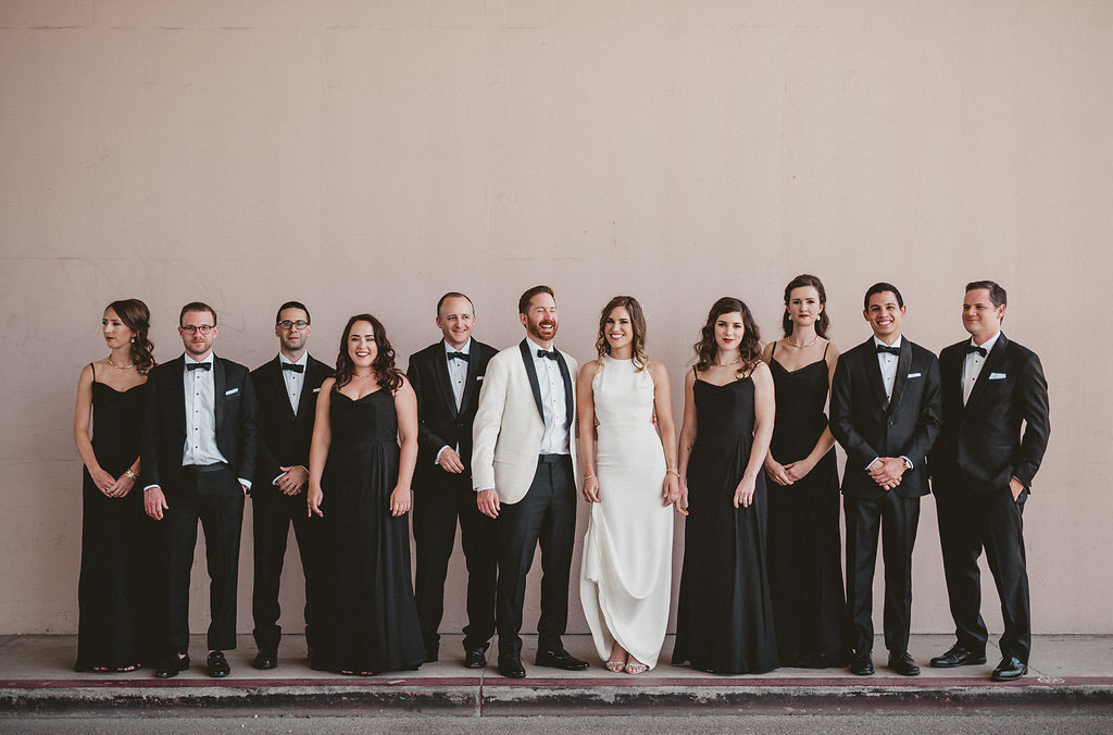 black wedding party