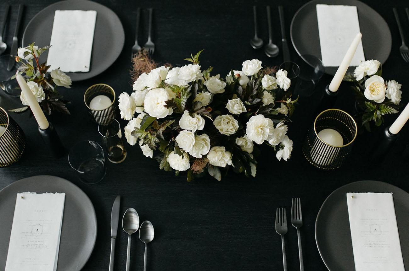 Matte Black Wedding Inspiration