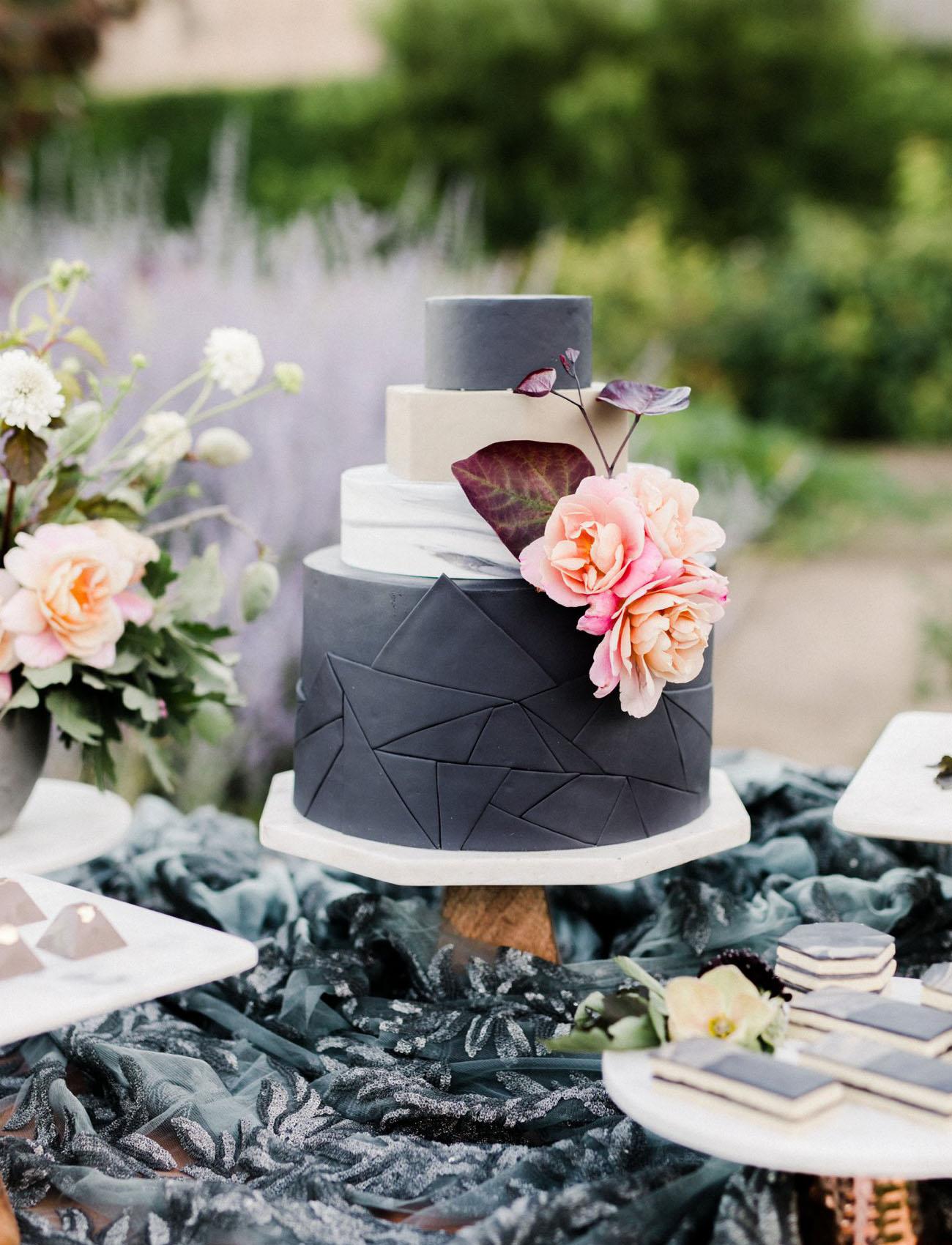 modern gray cake