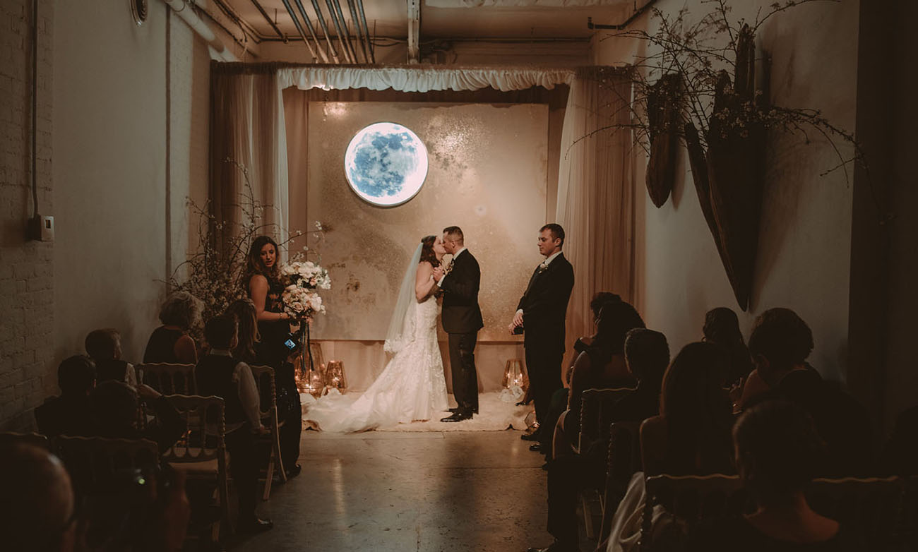 Moonlit Steel Yard Wedding