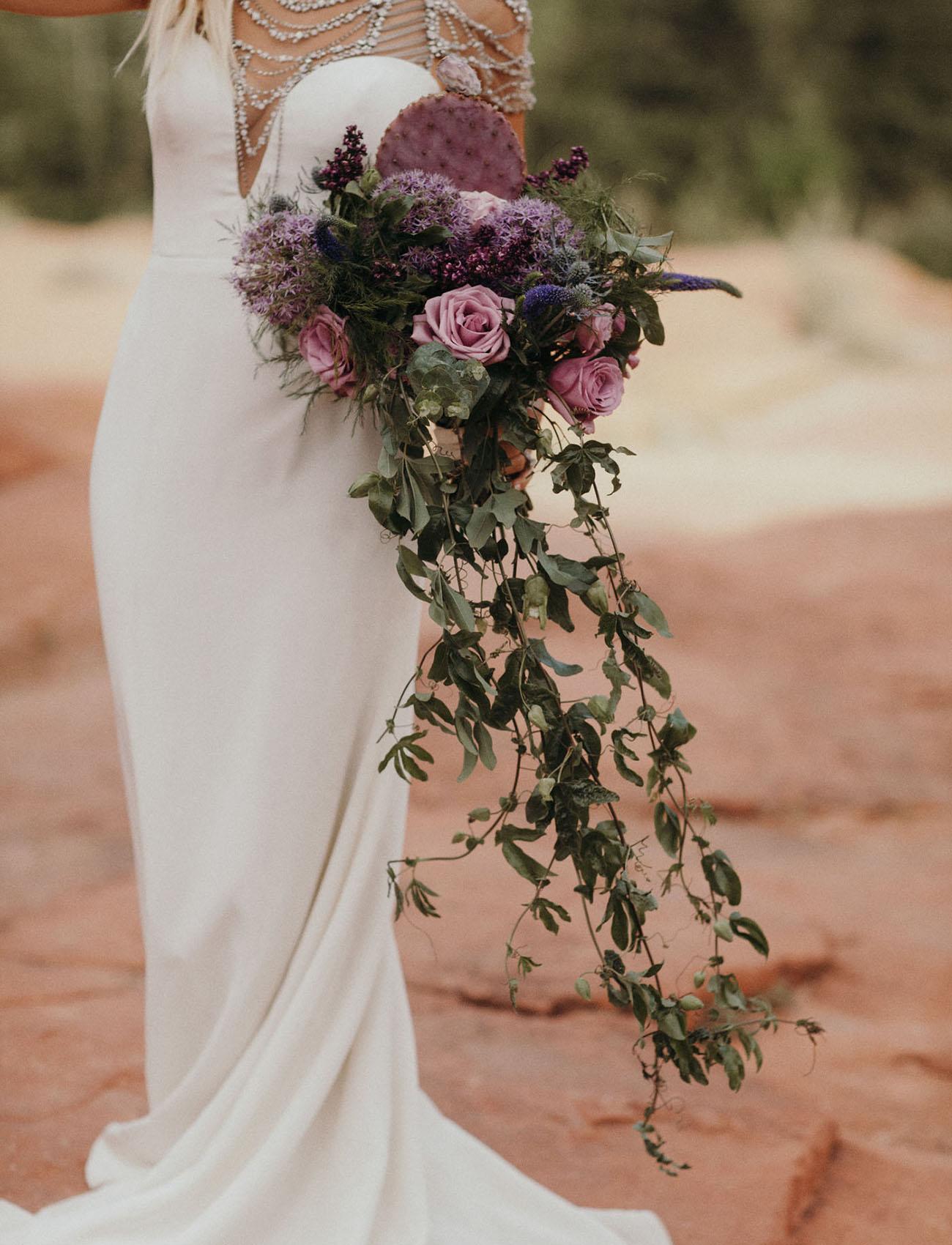 purple cactus bouquet