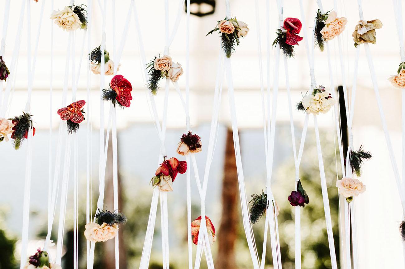 macrame flower backdrop