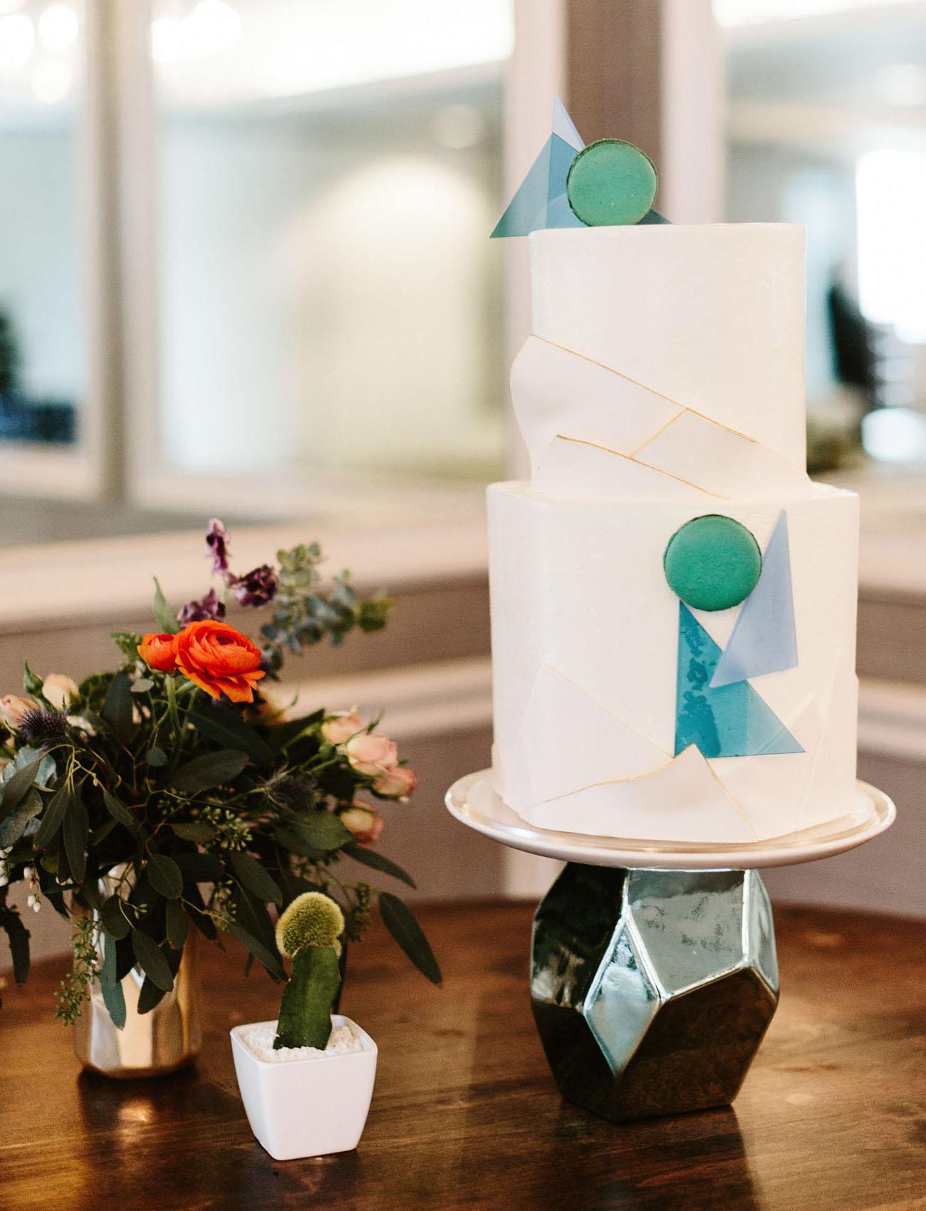 mid century wedding cake