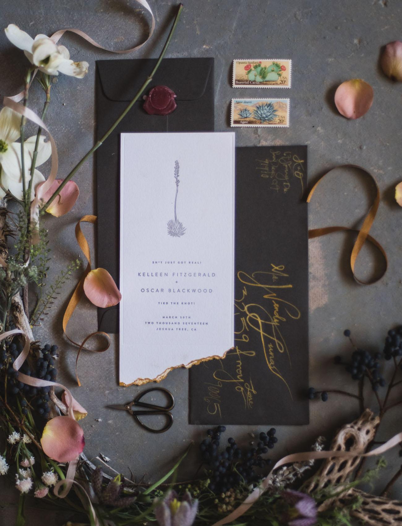 black invitation suite