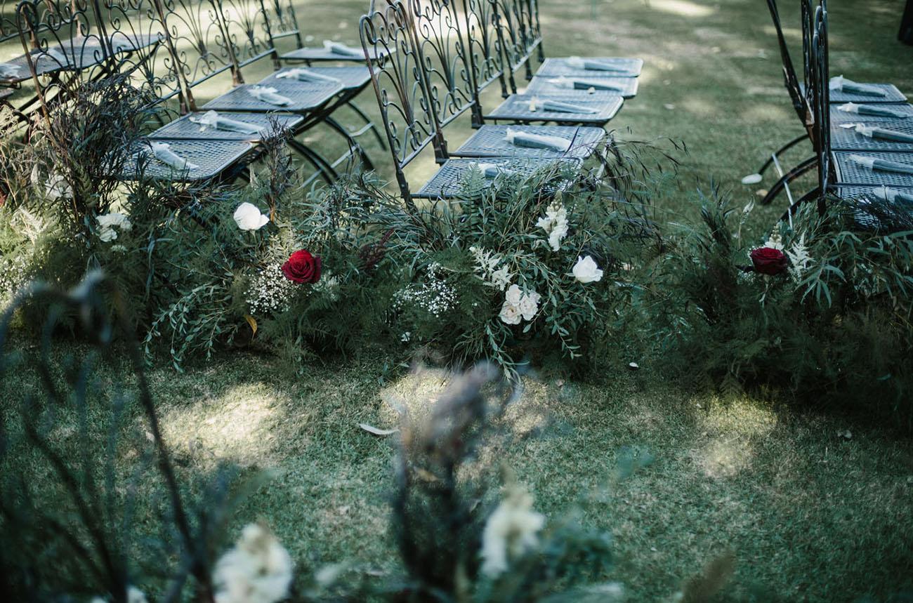 Moody Overgrown Wedding