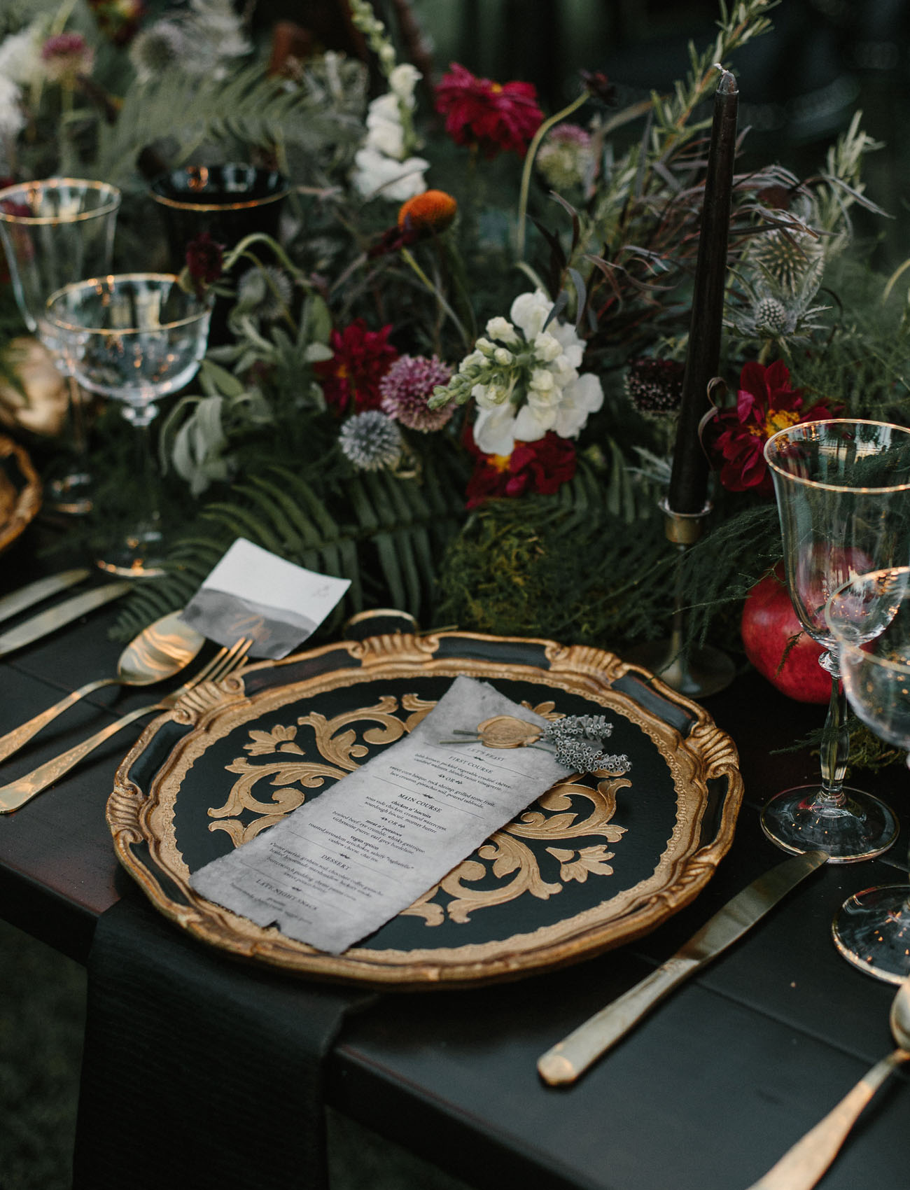 ornate plate setting