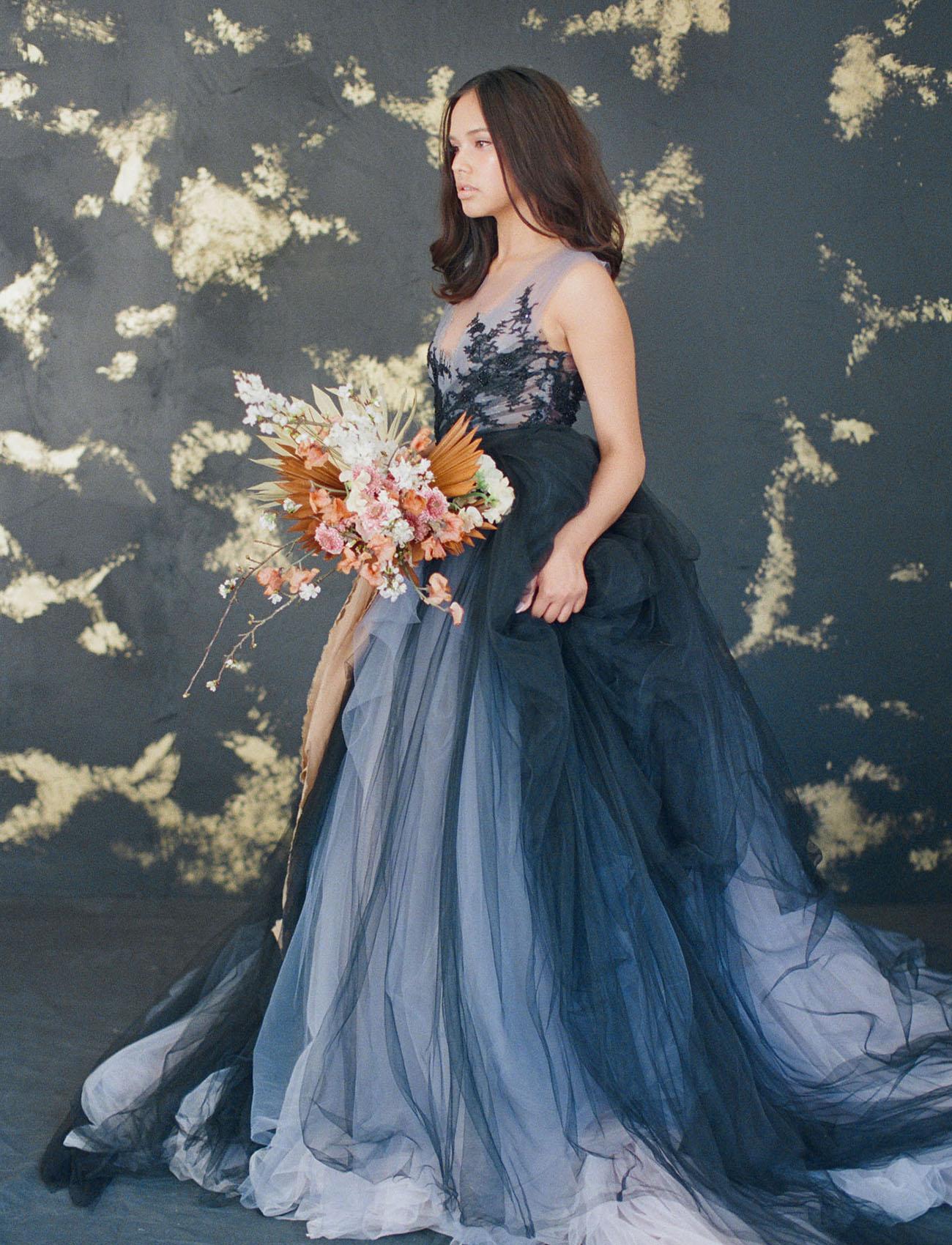 Blue And Purple Wedding Dress 87 Cool MYWONY wedding dress