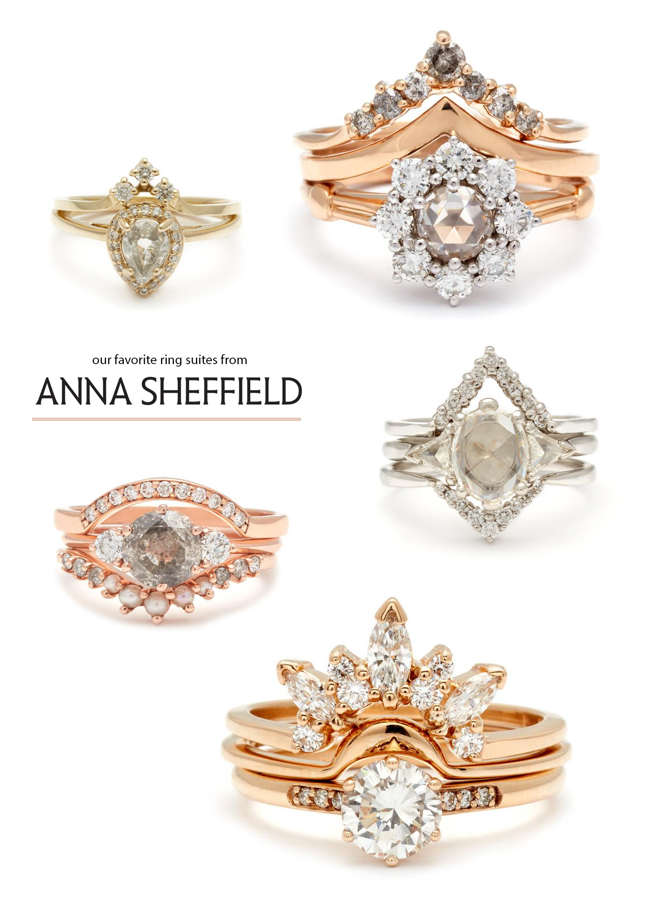 favorite engagement rings from Anna Sheffield